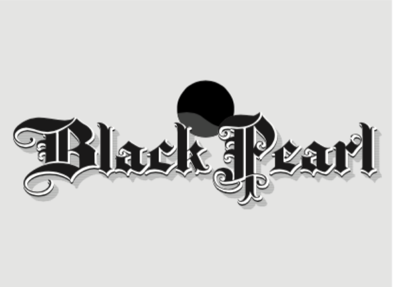 black pearl fancy text